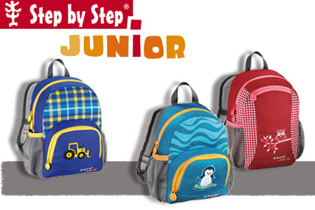 step by step junior serie kindergartenrucksack. Black Bedroom Furniture Sets. Home Design Ideas