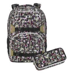 4YOU Pekka Schulrucksack Set B Geometric Sheen 341