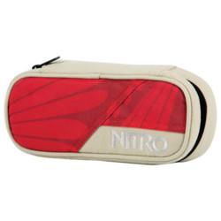 nitro Etuibox Pencil Case Plaid Red Blue